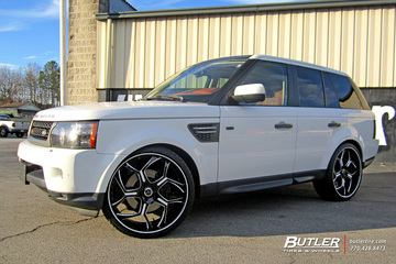 Land Rover Range Rover Sport with 24in Savini SV53 Wheels