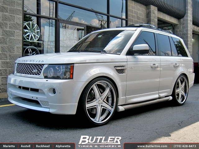 Land Rover Range Rover Sport with 24in Savini SV8 Wheels