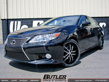 Lexus ES with 20in Lexani LSS55 Wheels