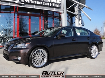 Lexus GS with 20in Lumarai Kya Wheels