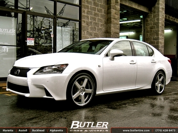 Lexus GS with 20in Niche Nurburg Wheels