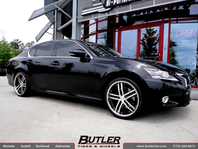 Lexus GS with 20in Vossen VVS085 Wheels