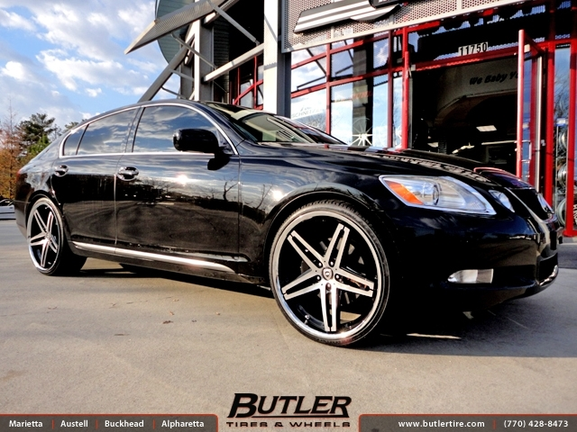 Lexus GS with 22in Lexani R-Five Wheels
