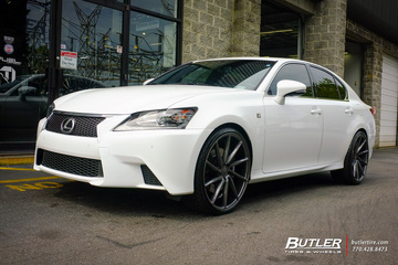 Lexus GS with 22in Vossen CVT Wheels