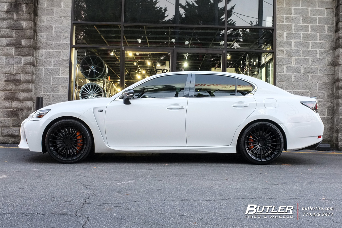Lexus GS F with 20in TSW Turbina Wheels
