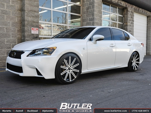 Lexus GS F with 20in Vossen CV4 Wheels