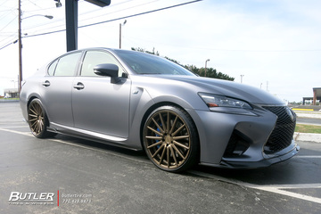 Lexus GS F with 21in Vossen VFS2 Wheels