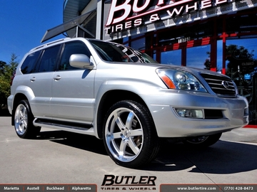 Lexus GX with 22in Black Rhino Pondora Wheels
