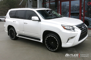 Lexus GX with 22in Black Rhino Spear Wheels