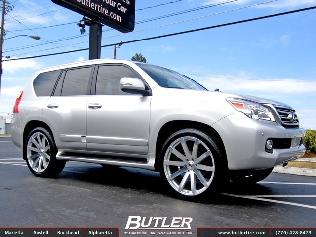 Lexus Gx With 24in Black Rhino Traverse Wheels Exclusively