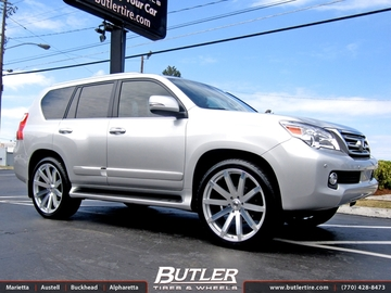 Lexus GX with 24in Black Rhino Traverse Wheels
