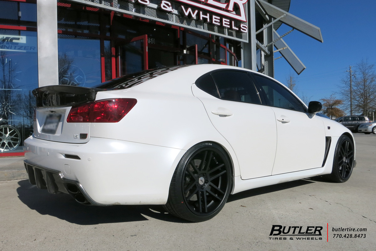Lexus IS-F with 20in TSW Rouen Wheels