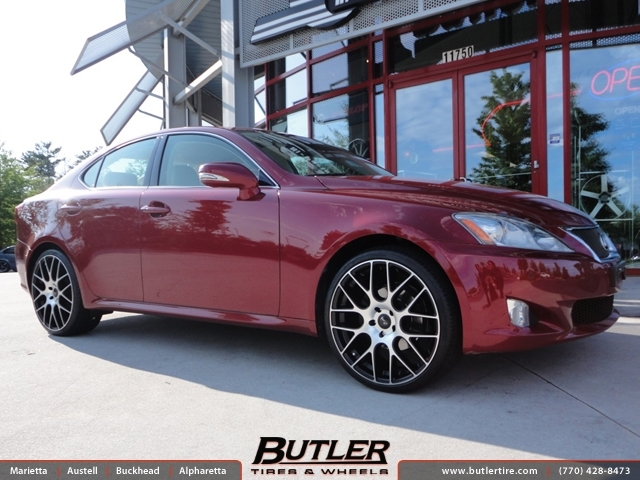 Lexus IS with 20in Niche Circuit Wheels