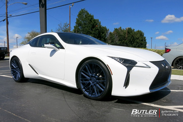 Lexus LC500 with 22in Savini BM13 Wheels