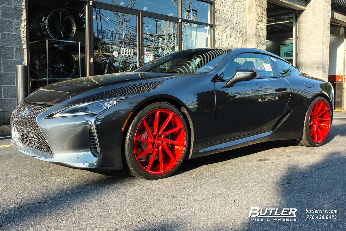 Lexus LC500 with 22in Savini BM15 Wheels