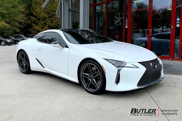 Lexus LC500 with 22in Savini SV-F3 Wheels