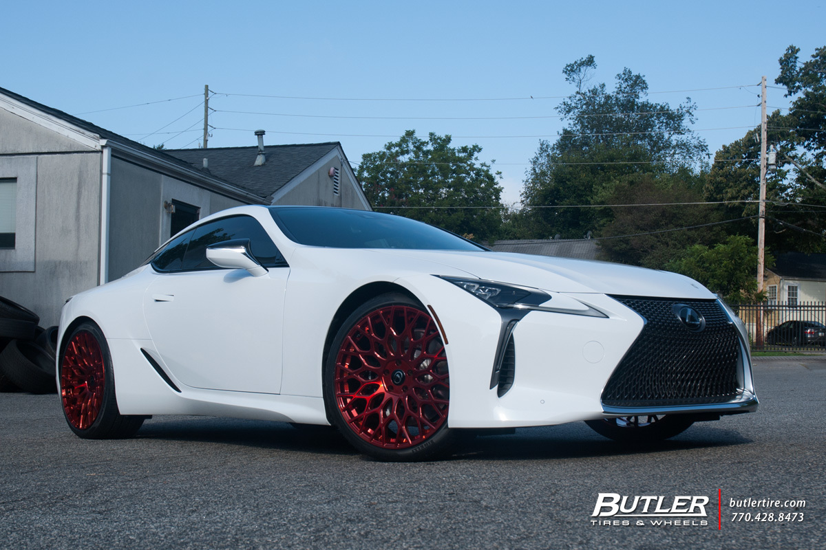 Lexus LC500 with 22in TSW Oslo Wheels