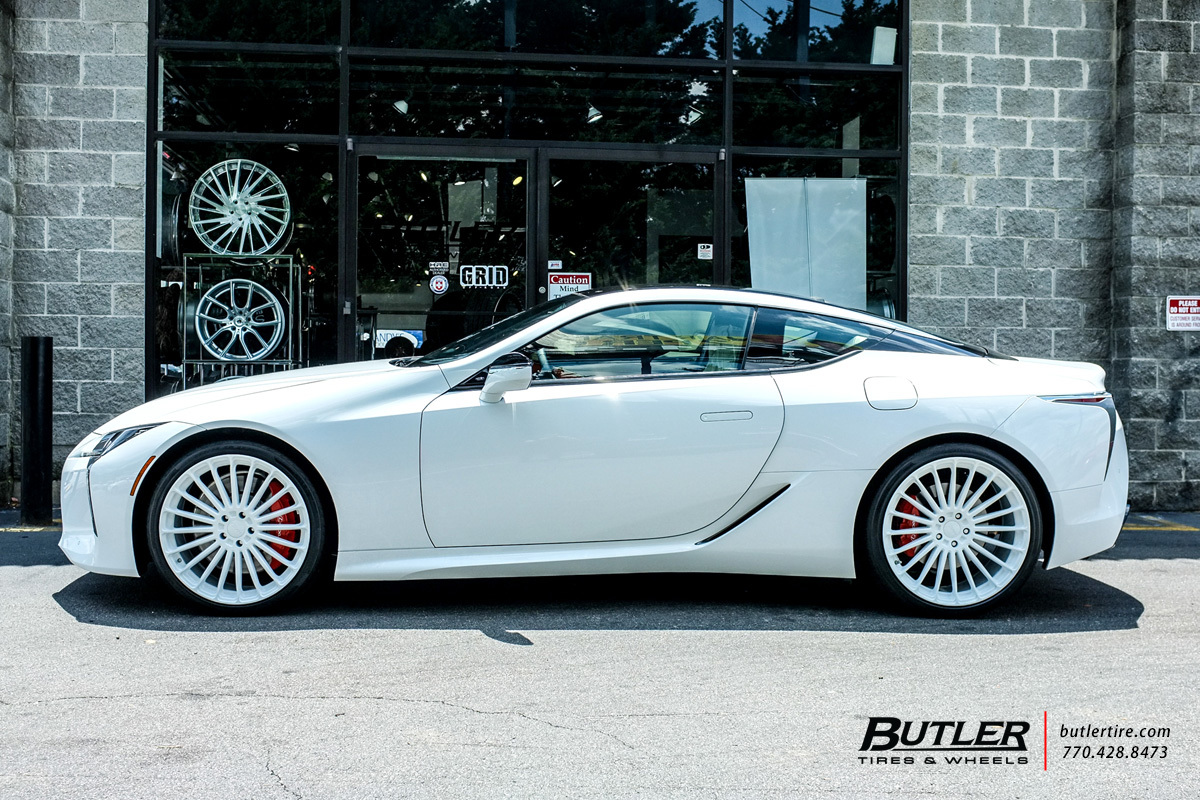 Lexus Lc500 With 22in Tsw Turbina Wheels Exclusively From Butler