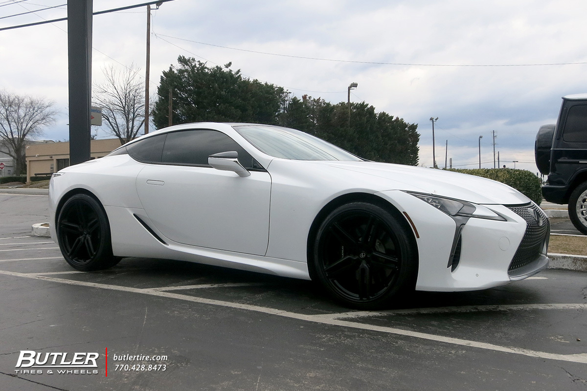 Lexus LC500 with 22in Vossen HF-1 Wheels