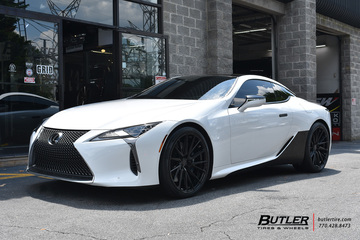 Lexus LC500 with 22in Vossen HF-4T Wheels