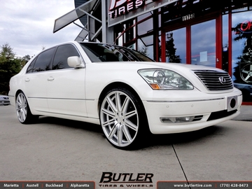 Lexus LS430 with 22in Vossen CV4 Wheels