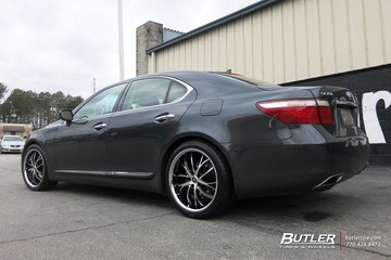 Lexus LS460 with 20in Lexani Polaris Wheels