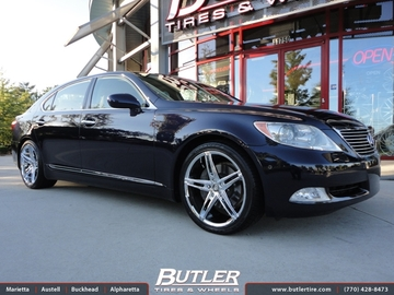 Lexus LS460 with 20in Lexani R-Three Wheels