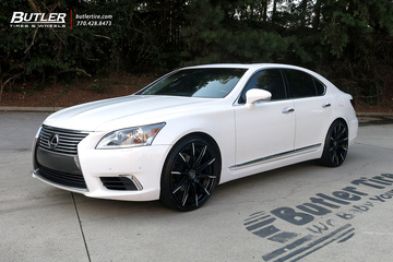Lexus LS460 with 22in Lexani CSS15 Wheels