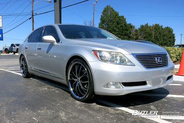 Lexus LS460 with 22in Lexani Polaris Wheels