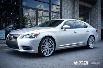 Lexus LS460 with 22in Savini BM13 Wheels