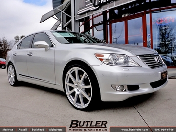 Lexus LS460 with 22in TSW Interlagos Wheels