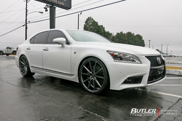Lexus LS460 with 22in Vossen VFS1 Wheels
