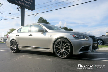 Lexus LS460 with 22in Vossen VFS2 Wheels