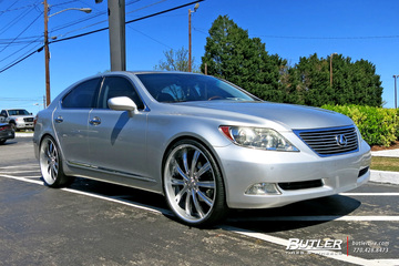Lexus LS460 with 24in Vellano VTI Wheels
