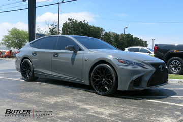 Lexus LS500 with 22in Vossen HF-2 Wheels