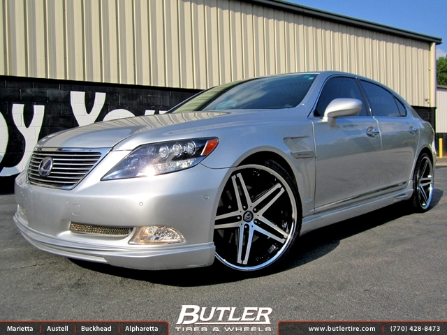 Lexus LS600 with 22in Lexani R-Five Wheels