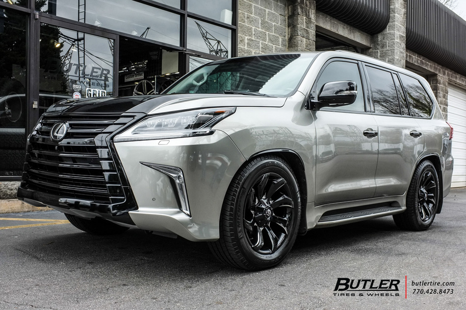 Lexus LX with 20in Fuel Stryker Wheels exclusively from ...