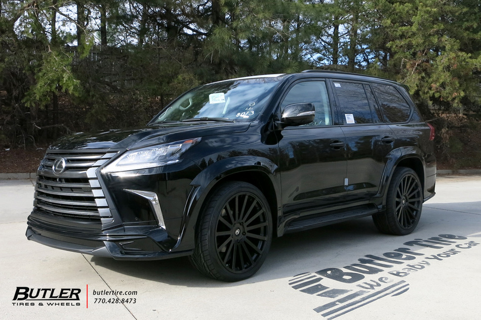 Lexus LX with 22in Black Rhino Spear Wheels exclusively ...
