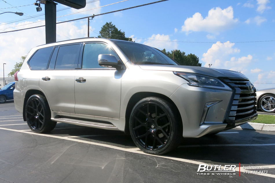Lexus Lx 570 >> Lexus LX with 24in Black Rhino Tembe Wheels exclusively from Butler Tires and Wheels in Atlanta ...