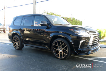 Lexus LX with 24in Black Rhino Tembe Wheels