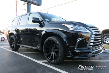 Lexus LX with 24in Black Rhino Traverse Wheels