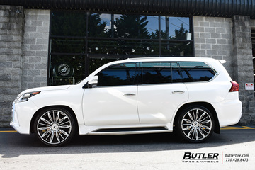 Lexus LX with 24in Forgiato Montare ECL Wheels