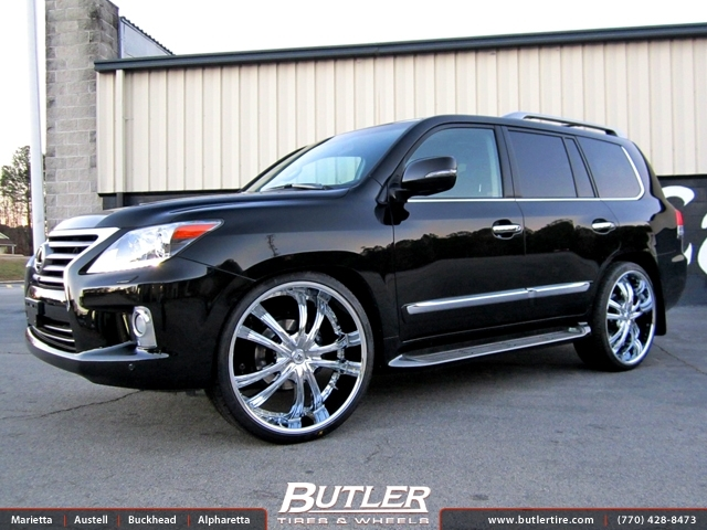 Lexus LX with 26in Lexani LSS55 Wheels