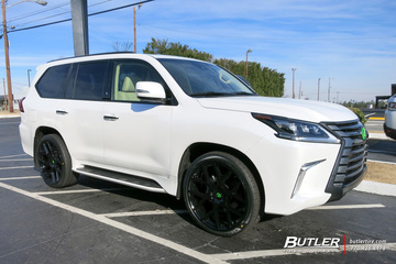 Lexus LX570 with 24in Black Rhino Tembe Wheels