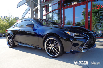 Lexus RC with 20in Lexani Polaris Wheels