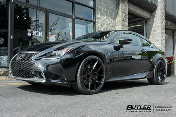 Lexus RC with 21in Savini BM14 Wheels