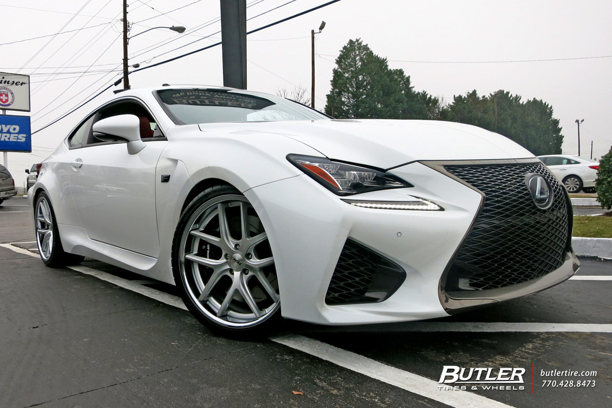 Lexus RCF with 20in TSW Portier Wheels