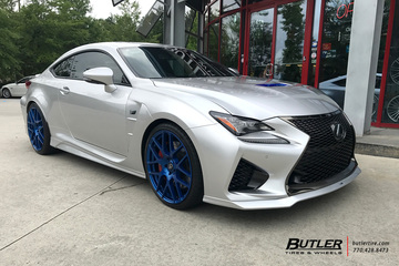 Lexus RCF with 21in TSW Nurburgring Wheels