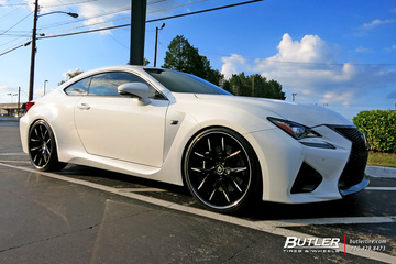 Lexus RCF with 22in Lexani R-Twelve Wheels
