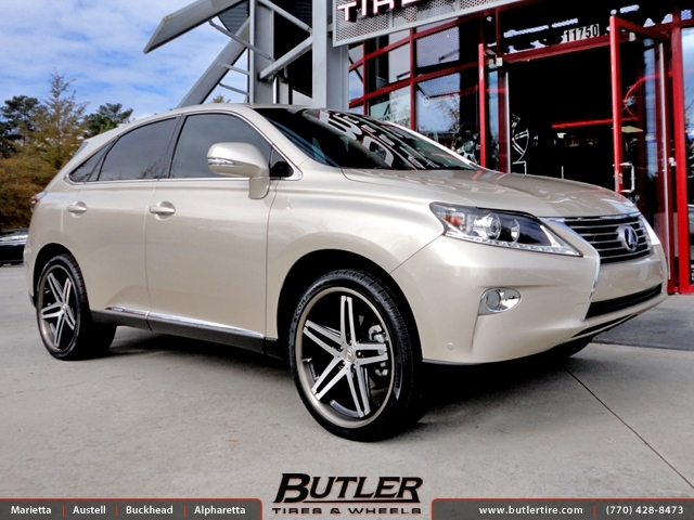 Lexus RX with 22in Lexani R-Five Wheels